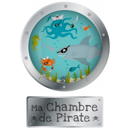 Stickers Abyss - Hublot Porte Pirate de la mer