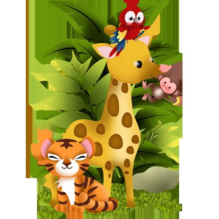 stickers collection jungle animaux de la jungle 2 stickers malin. Black Bedroom Furniture Sets. Home Design Ideas