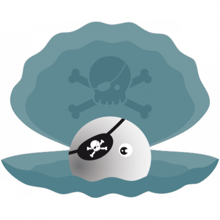 Stickers Abyss - Coquillage Pirate de la mer