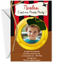 Invitation pirate party
