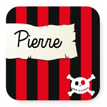 Lot de 4 ou 8 sous-verres pirate