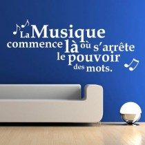 Stickers citation musique