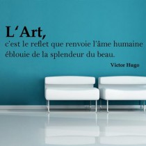 Stickers citation art Victor hugo
