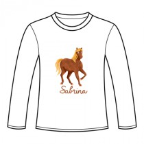 Tee-shirt manches longues cheval