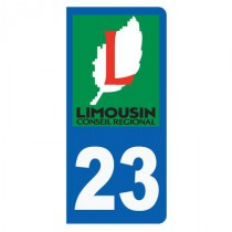 Stickers plaque 23 Limousin
