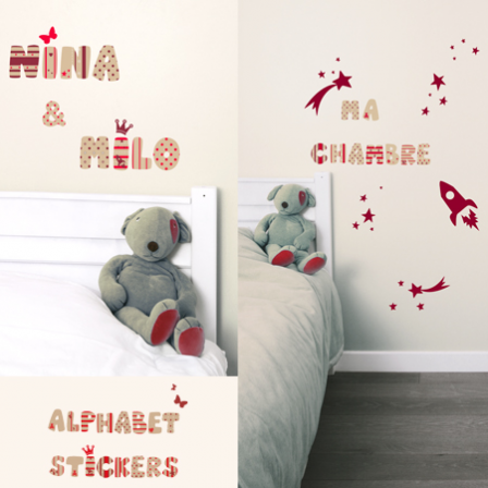 Stickers Lettre M1 - Alphabet Sticker British