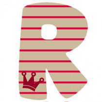 Stickers Lettre R1 - Alphabet Sticker British