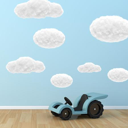 Stickers nuages 1 - Stickers Malin