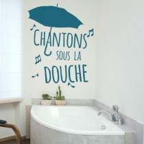 stickers chantons sous la douche