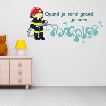 stickers je serai pompier 2 stickers malin. Black Bedroom Furniture Sets. Home Design Ideas