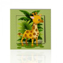 stickers interrupteur -collection Jungle- girafe
