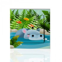 stickers interrupteur -collection Jungle- hippopotame