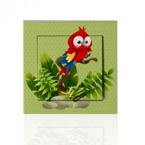stickers interrupteur -collection Jungle- perroquet