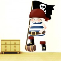 stickers collection - les pirates - Pirate au drapeau