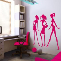 Stickers silhouettes filles