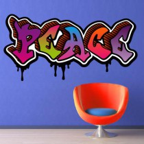 Stickers Graffiti Peace