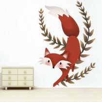 stickers collection la forêt le Renard qui marche