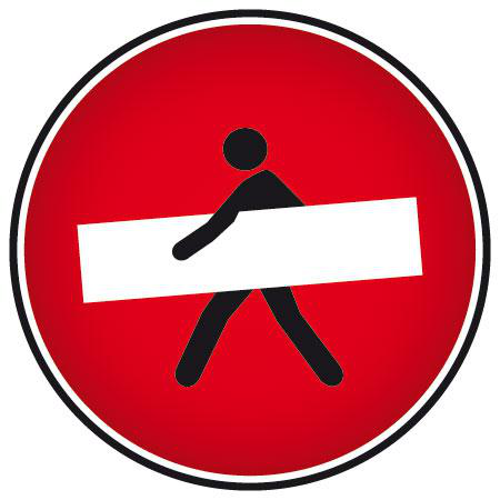 Stickers humour sens interdit stickers malin - Panneau de signalisation original ...