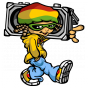 Stickers reggae boy