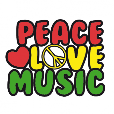 Stickers Peace Love Music