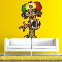 Stickers Reggae boy and vinyls