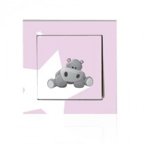 Stickers INTERRUPTEUR Bébé hippo
