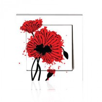 Stickers INTERRUPTEUR Coquelicot