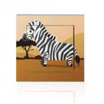 Stickers INTERRUPTEUR SAVANE Zebre