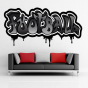 Stickers Graffiti Football gris