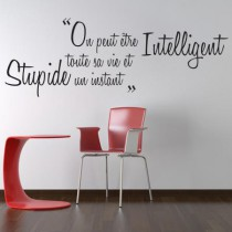Stickers PROVERBE CHINOIS Intelligent