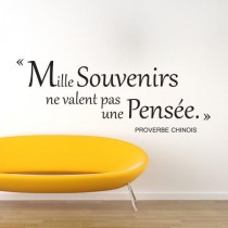 Stickers PROVERBE CHINOIS Souvenir