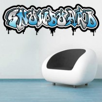 Stickers Graffiti Snowboard couleurs