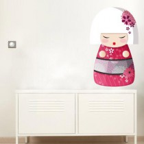 Stickers ASIA Kokeshi rose