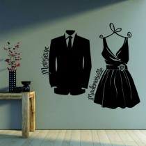 Stickers Dressing Mademoiselle & Mr