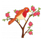 Stickers L'oiseau rouge