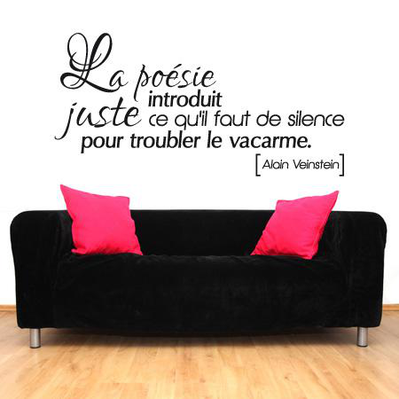 stickers citation la po sie stickers malin. Black Bedroom Furniture Sets. Home Design Ideas