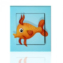 Stickers Interrupteur Poisson orange 2