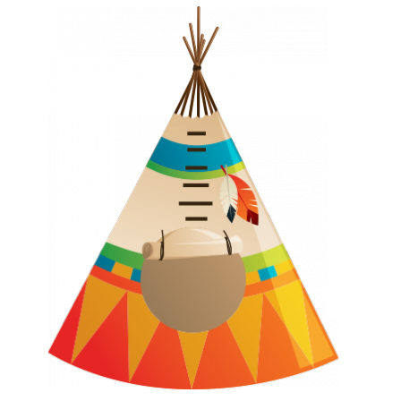 stickers camp indien tipi stickers malin. Black Bedroom Furniture Sets. Home Design Ideas