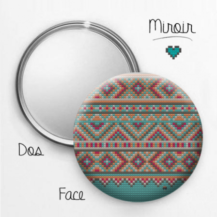 Miroir br silien inca 2 stickers malin for Miroir 2 metre