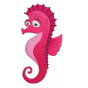 Stickers CURIEUX DES MERS Hippocampe rose