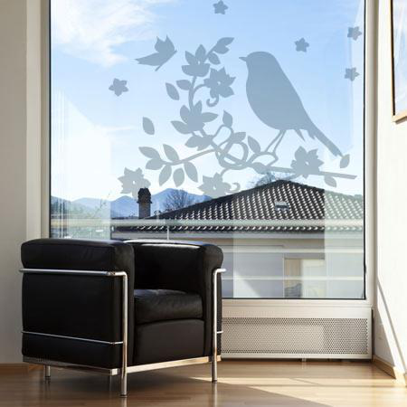 stickers vitre oiseau de verre stickers malin. Black Bedroom Furniture Sets. Home Design Ideas