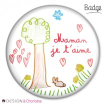 Badge Amour Maman 1