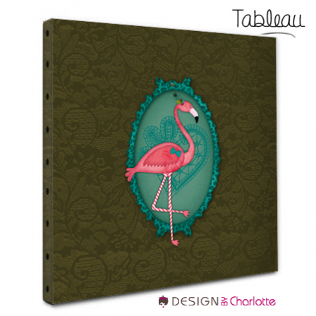 tableau animal design flamant rose stickers malin. Black Bedroom Furniture Sets. Home Design Ideas