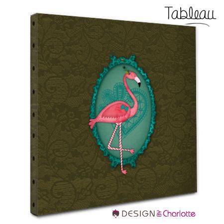 tableau animal design flamant rose stickers malin. Black Bedroom Furniture Sets. Home Design Ideas