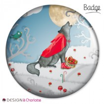 Badge Animal Loup