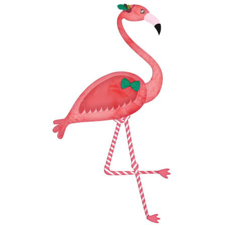 Stickers animal foret flamant rose stickers malin - Stickers flamant rose ...