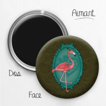 Aimant Animal Design Flamant