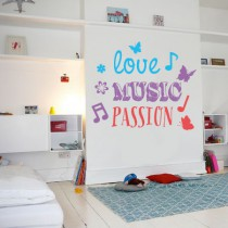 Stickers Love Music Passion