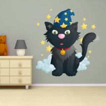 Stickers MAGIE Chat magicien