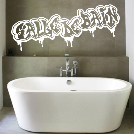 Stickers graffiti salle de bain stickers malin for Sticker miroir salle de bain